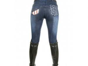 Bryczesy HKM - Stars & Stripes - Denim